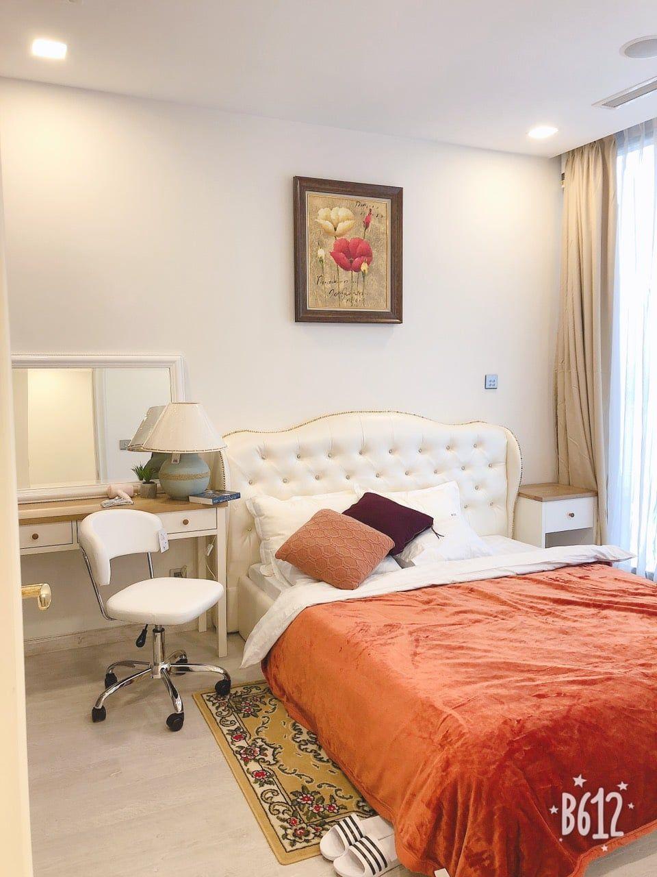 Phòng ngủ căn hộ 1PN Vinhomes Golden River giá thuê 15 triệu