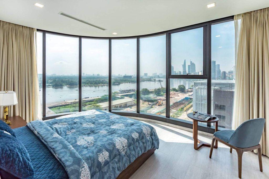 Phòng ngủ căn hộ 3PN cho thuê Vinhomes Golden River