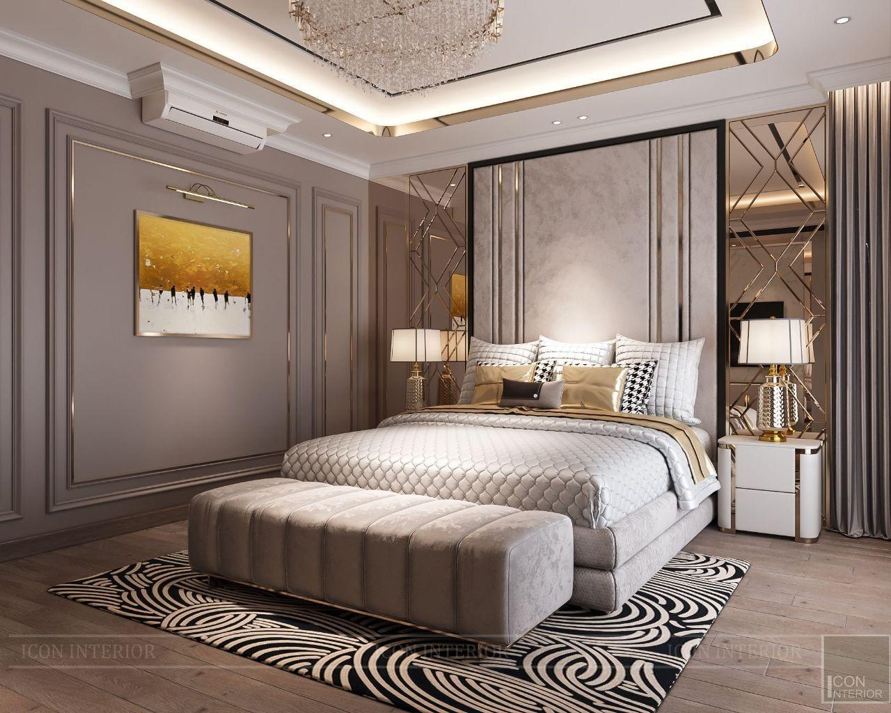 Phòng ngủ căn hộ 4PN Vinhomes Golden River