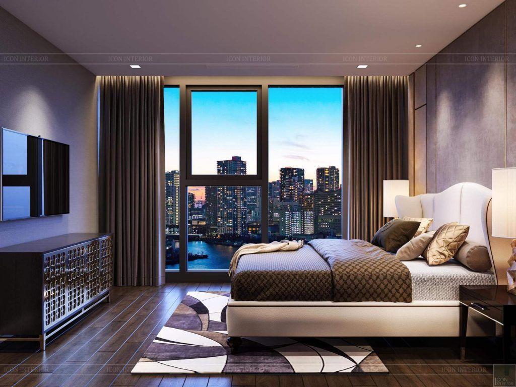 Phòng ngủ master căn hộ 3PN Vinhomes Golden River