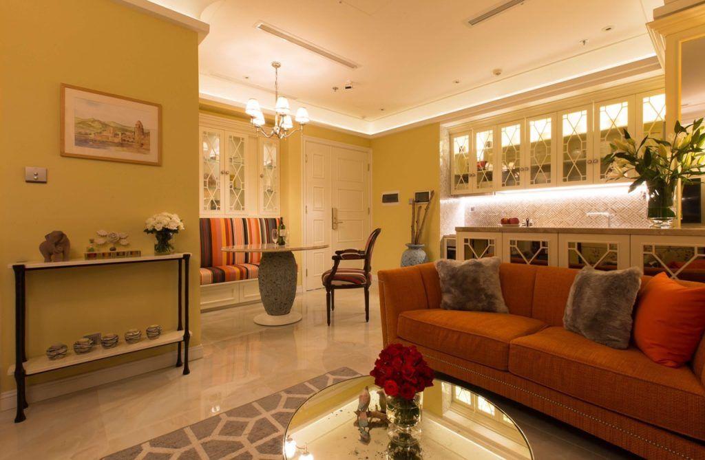 Toàn cảnh căn hộ 2PN cho thuê Vinhomes Golden River full nội thất sang trọng